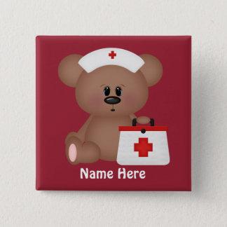 Badges L'infirmière de bande dessinée ajoutent le bouton