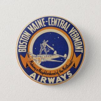 Badges Logo Maine-Central de voies aériennes de Boston