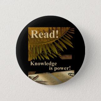 Badges Lu ! La connaissance est bouton de puissance
