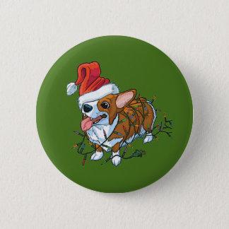 Badges Lumières de Noël de Noël de chiot de corgi de