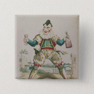 Badges M. Grimaldi comme clown
