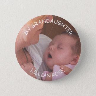 Badges Ma photo de bébé de petit-fils et bouton faits sur