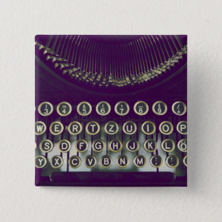Badges machine à écrire démodée