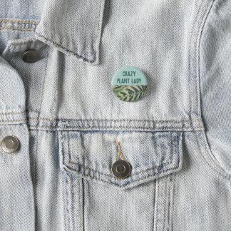 Badges Madame folle Button de plante