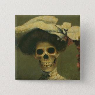 Badges Madame squelettique gothique Button