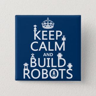Badges Maintenez les robots calmes et de construction