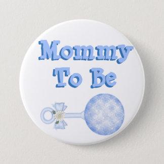 Badges Maman à être bouton bleu de baby shower de bébé