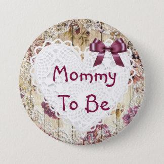 Badges Maman à être bouton marron chic minable de baby
