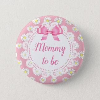 Badges Maman à être bouton rose de baby shower de