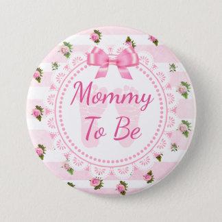 Badges Maman à être roses de rose de bouton de baby