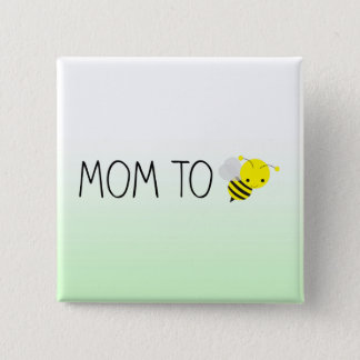 Badges Maman à être, vert de bourdon/jaune mignons
