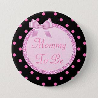 Badges Maman rose et noire à être Pin de baby shower