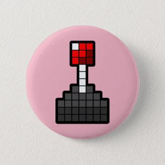 Badges Manette de pixel rose-clair