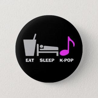 Badges Mangez le bouton de Kpop de sommeil (foncé)