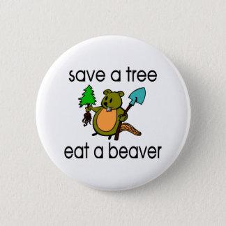 Badges Mangez un castor