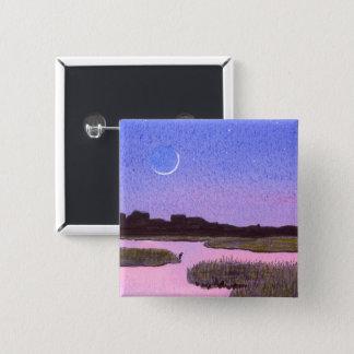 Badges Marais de crépuscule de croissant de lune et de