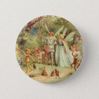 Badges Mariage vintage de Thumbelina et de prince