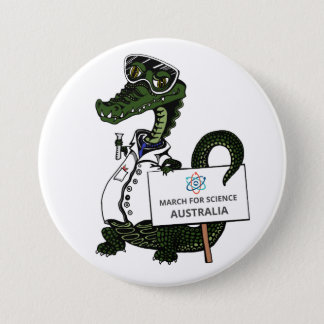 Badges Mars pour la Science Australie - crocodile -