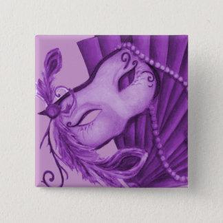 Badges Mascarade violette