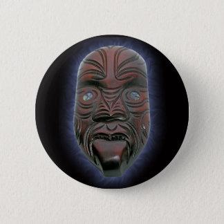 Badges Masque découpé maori - bouton