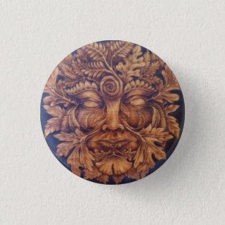 Badges Masque du Pin de bouton d'homme vert