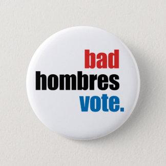 Badges Mauvais bouton de vote de Hombres