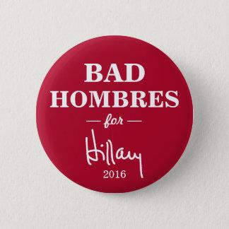 Badges MAUVAIS HOMBRES pour le bouton de campagne de