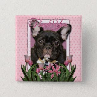 Badges Merci - bouledogue français - Teal
