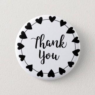 Badges MERCI, carte de remerciements