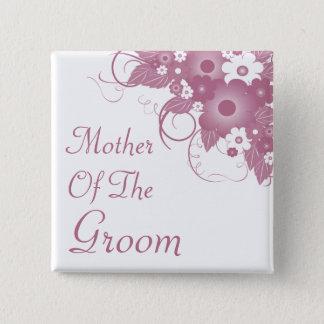 Badges Mère du bouton mauve de bouquet de marié