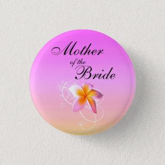 Badges Mère du Frangipani de jeune mariée épousant le Pin