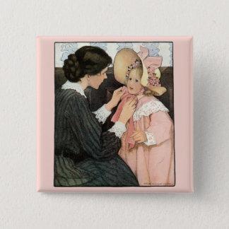 Badges Mère vintage et enfant par Jessie Willcox Smith