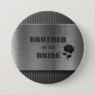 Badges Métal de Robo/frère argentés de la jeune mariée -