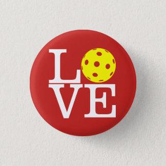 Badges Mini bouton de Pickleball : AMOUR (rouge)
