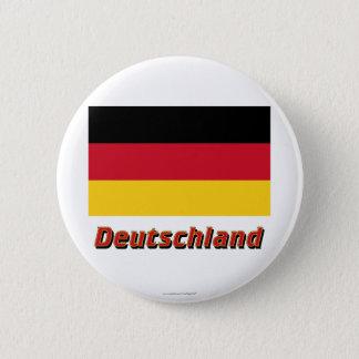 Badges MIT Namen du Deutschland Flagge