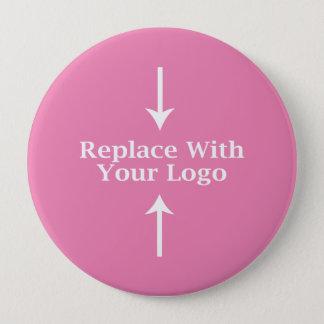Badges Modèle féminin rose de bouton de logo