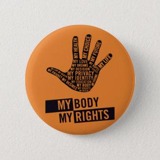 Badges Mon corps mon bouton de droits de la femme bien