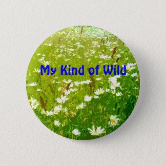 Badges Mon genre de bouton floral de marguerite sauvage