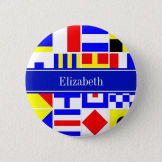 Badges Monogramme nommé royal coloré de drapeaux de