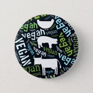 """Badges Mosaïque """"végétalienne"""" de Mot-Nuage avec le porc,"""