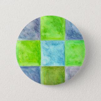 Badges Motif de bleu et de vert