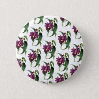 Badges Motif de fleurs pourpre d'orchidées