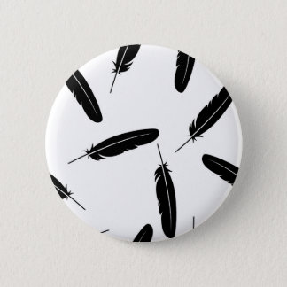 Badges Motif en baisse noir et blanc de plumes