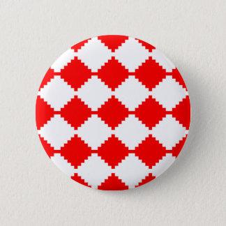 Badges Motif géométrique abstrait - rouge et blanc