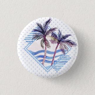 Badges Motif géométrique pourpre de palmier d'aquarelle
