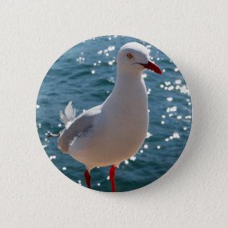 Badges Mouette argentée