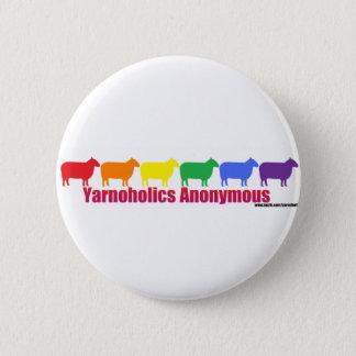 Badges Moutons anonymes d'arc-en-ciel de Yarnoholics