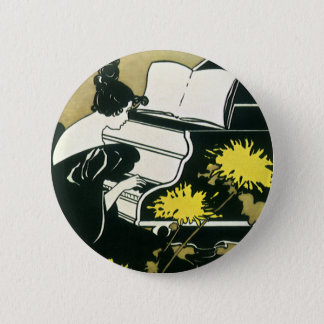 Badges Musique vintage, Mlle Traumerei Playing Piano,