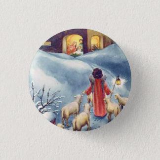 Badges Nativité vintage de berger d'ange de Noël