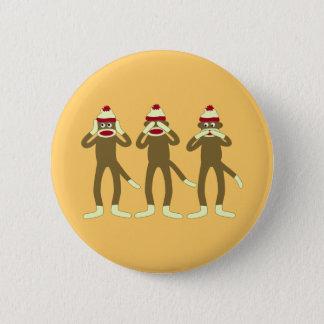 Badges N'entendez, voyez, parler l'aucun singe de